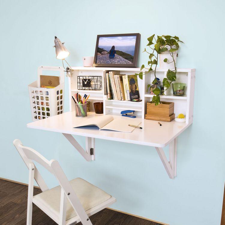 Mai mult loc in camera, alege un birou pliabil de perete. Sugestii si recomandari